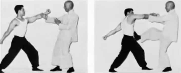 Two Pictures of Ip Man Demonstrating Wing Chun Kung Fu