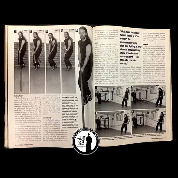 Sifu Bryan Talbot in Martial Art's Legends Magazine - Wing Chun Long Pole